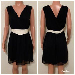Sheer mini black dress